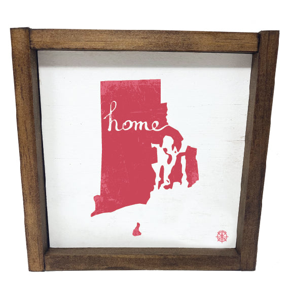 Framed Rhode Island State Home Sign