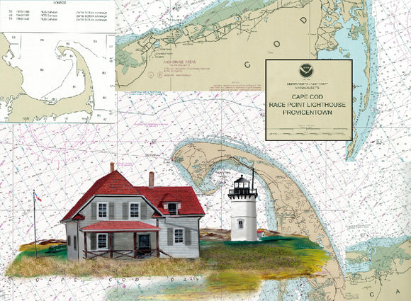 Cape Cod Race Point Lighthouse on Canvas
