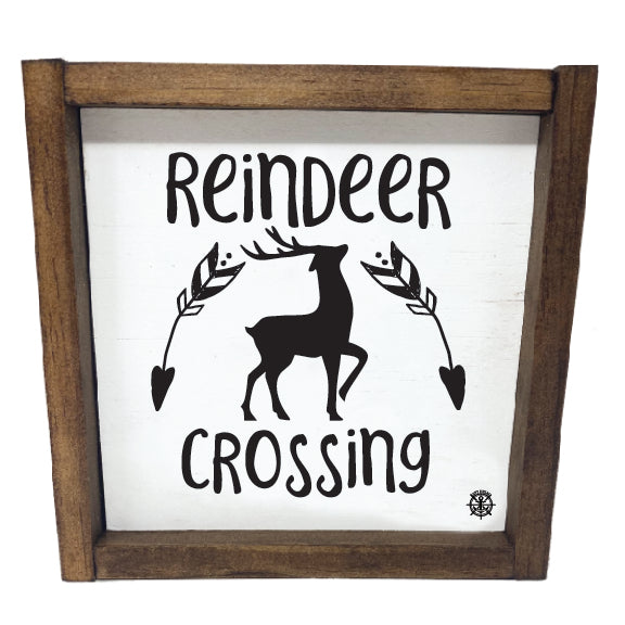 Framed Reindeer Sign