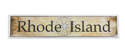 Rhode Island Vintage Map Wood Sign