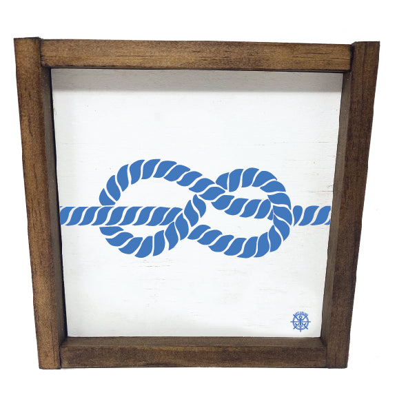 Framed Nautical Rope Sign