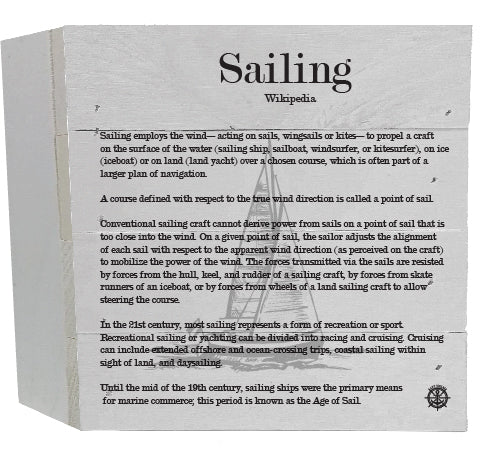 Sailing Wikipedia Decor