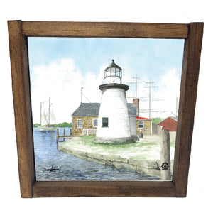 Mystic Seaport Watercolor Framed Decor