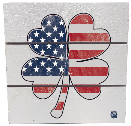 Shamrock Flag Hanging Sign
