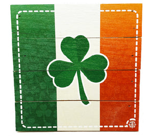 "6"" x 6"" Shamrock Ireland Flag"