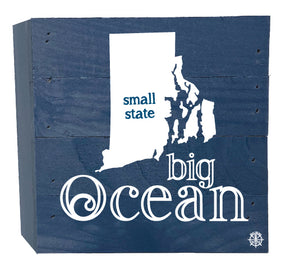 Small State Big Ocean Wood Box