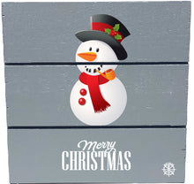 "Load image into Gallery viewer, 6"" x 6"" Snowman Wood Hanging Plank"