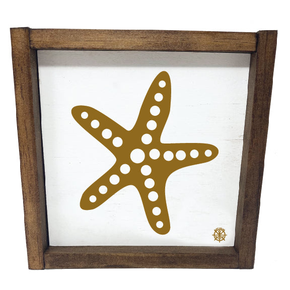 Framed Nautical Starfish Sign