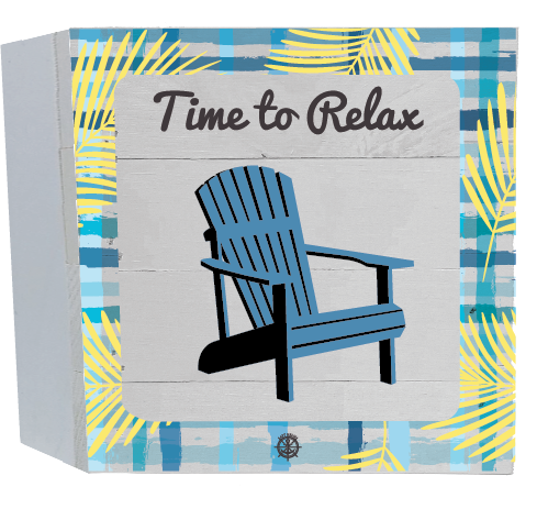 Time to Relax Wood Box