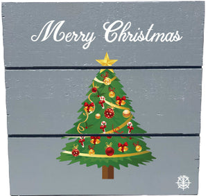 Christmas Tree Wood Hanging Plank