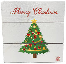 "Load image into Gallery viewer, 6"" x 6"" Christmas Tree Wood Hanging Plank"