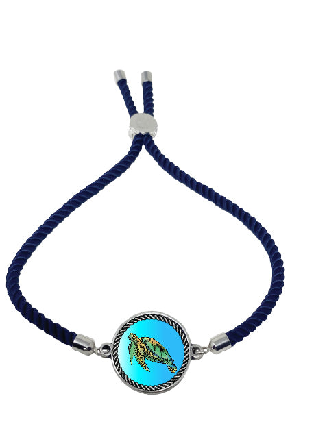 Sea turtle Nautical Rope Bracelet