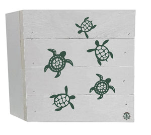 "6"" x 6"" Turtles Wood Box"