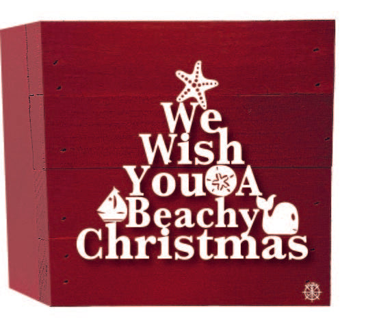 Beachy Christmas Wood Box
