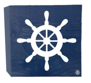 "6"" x 6"" Boat Wheel Wood Box"