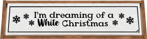 White Christmas Framed Wood Sign