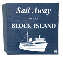 "Load image into Gallery viewer, 6"" x 6"" Block Island Ferry Wood Box"