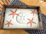 Sand dollar Wooden Serving Tray