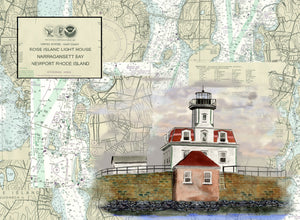 Rose Island Lighthouse on Canvas