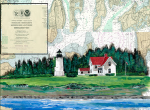 Warwick Neck Lighthouse on Canvas