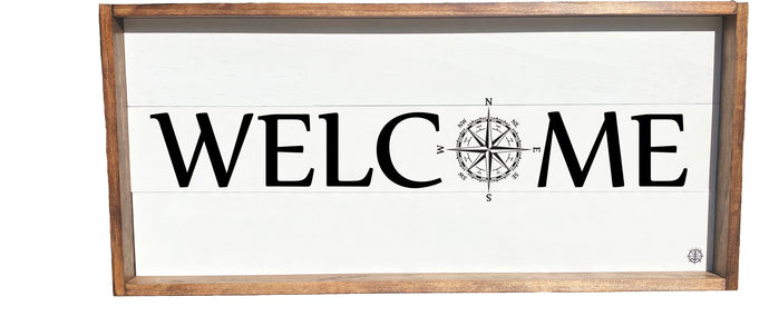 Nautical Welcome Compass Sign