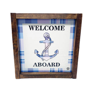 Nautical Welcome Aboard Anchor Sign