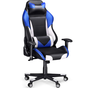 Gaming Chair Racing Chair (Blue/Black/White/Red)