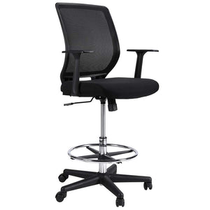 Mesh Drafting Stool Chair, Ergonomic Painting Chair with Footrest