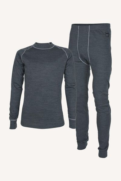 MERINO SET, UNISEX - ANTHRACITE