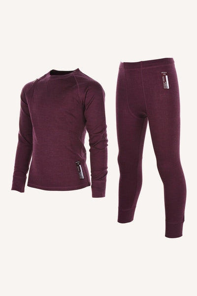 MERINO SET, JUNIOR - PLUM