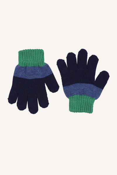 BRATTFORS WOOL GLOVE - NAVY/BLUE