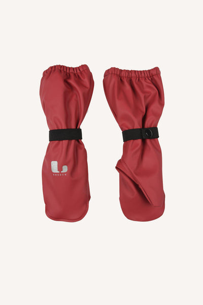 VAREKIL RAIN MITTEN FLEECE - BEET RED