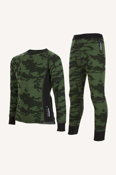 PRINT MERINO SET - GREEN