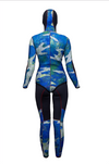 Polosub Lined Open Cell Blue Camo 2.5mm Woman Wetsuits