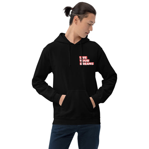 Red Live Your Dreams Unisex Hoodie
