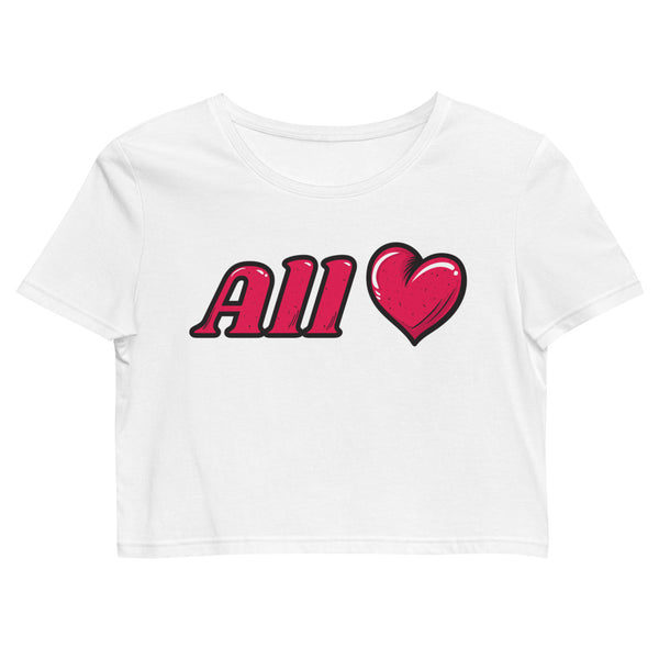 Organic All Love / Heart Crop Top
