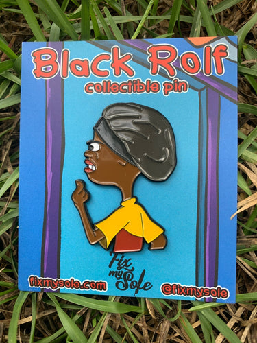 Black Rolf Bonnet Pin