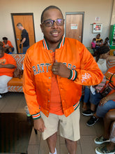 Load image into Gallery viewer, FAMU Rattlers Satin Bomber Jacket