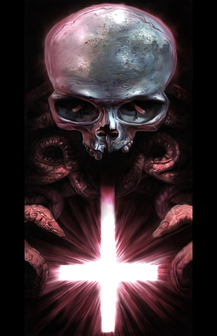 """Skull and Cross"" 11x17 Art Print"
