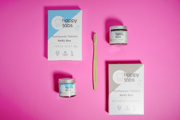 Happy Tabs Toothpaste Tablets - Refill & Break The Plastic Cycle