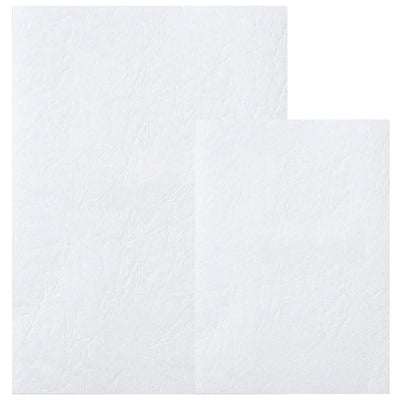 Deluxe Embossed Leather Board Binding Cover, 100/pack, White