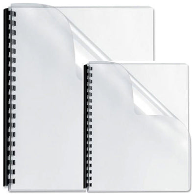 Deluxe PVC Binding Cover, 200 microns, 100/pack, Clear