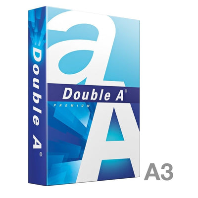 Double A Premium Paper A3, 80gsm, 500sheets/ream, White