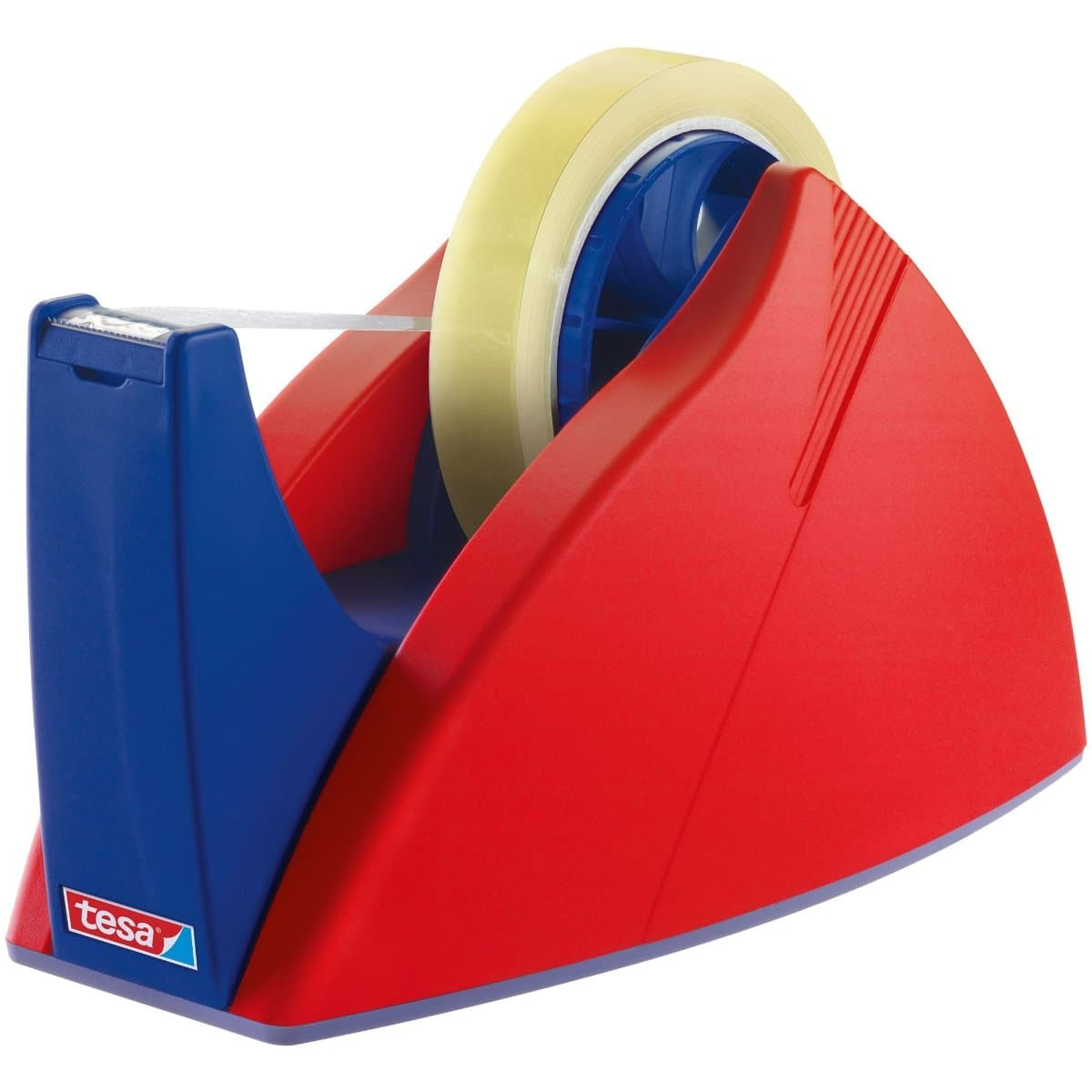 tesa EASY CUT PROFESSIONAL, Desk Dispenser for Tapes up to 25mm x 66m, Red/Blue