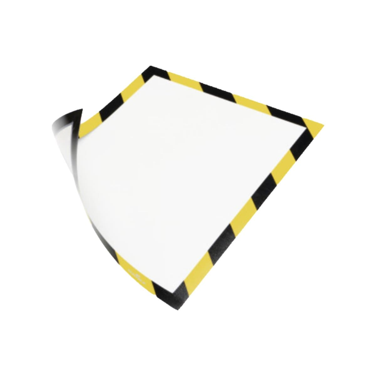 Durable DURAFRAME Security, Magnetic Frame A4, 5/pack, Black/Yellow