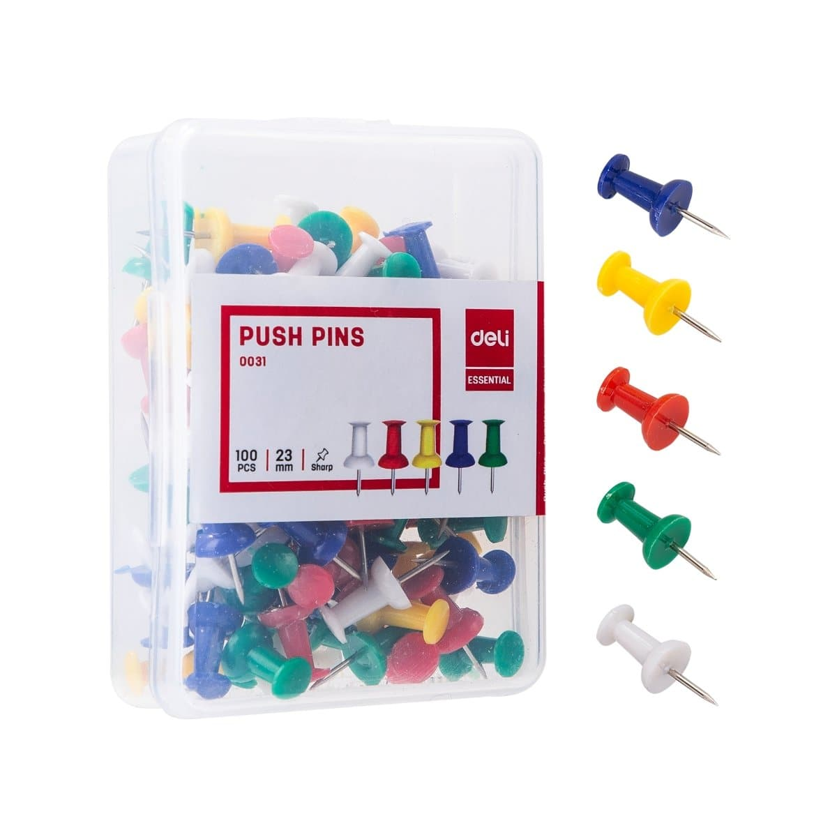 deli Push Pins, 100/pack, Assorted Colors