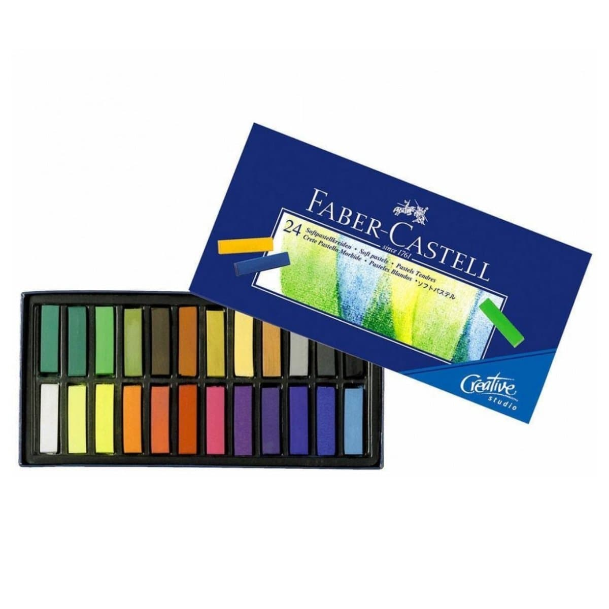 Faber Castell Soft Pastels Crayons, 24/pack