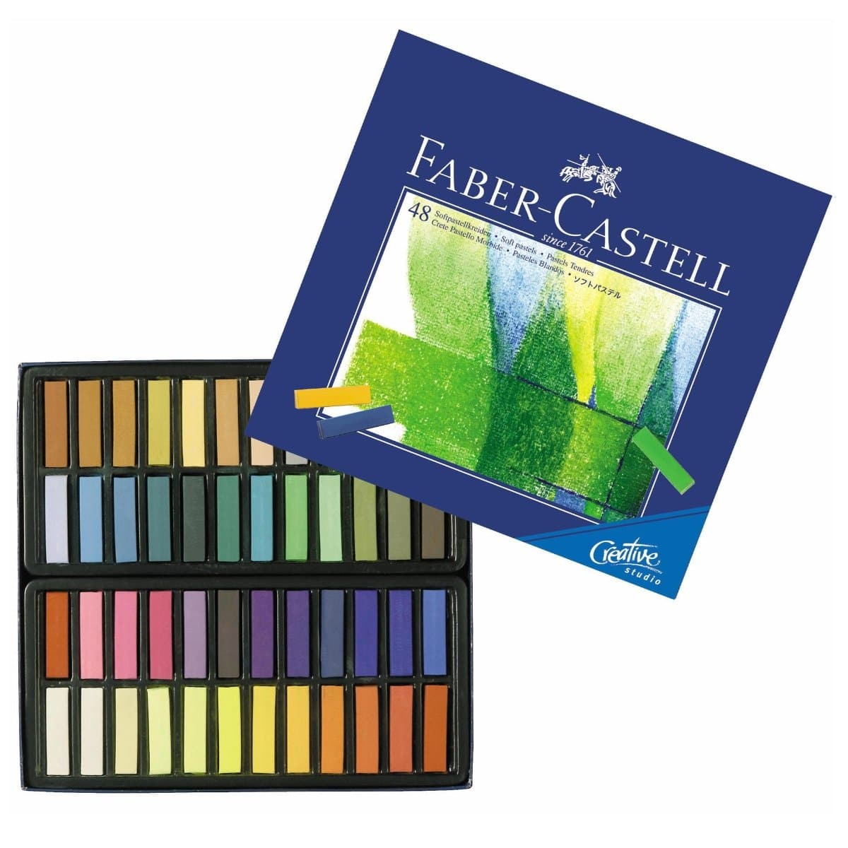 Faber Castell Soft Pastels Crayons, 48/pack