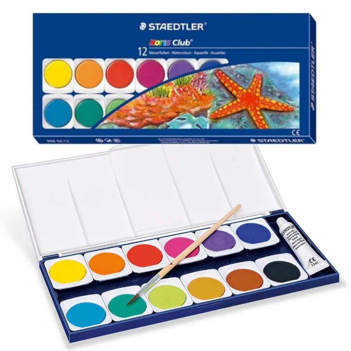 Staedler Noris Club Watercolors, 12/pack