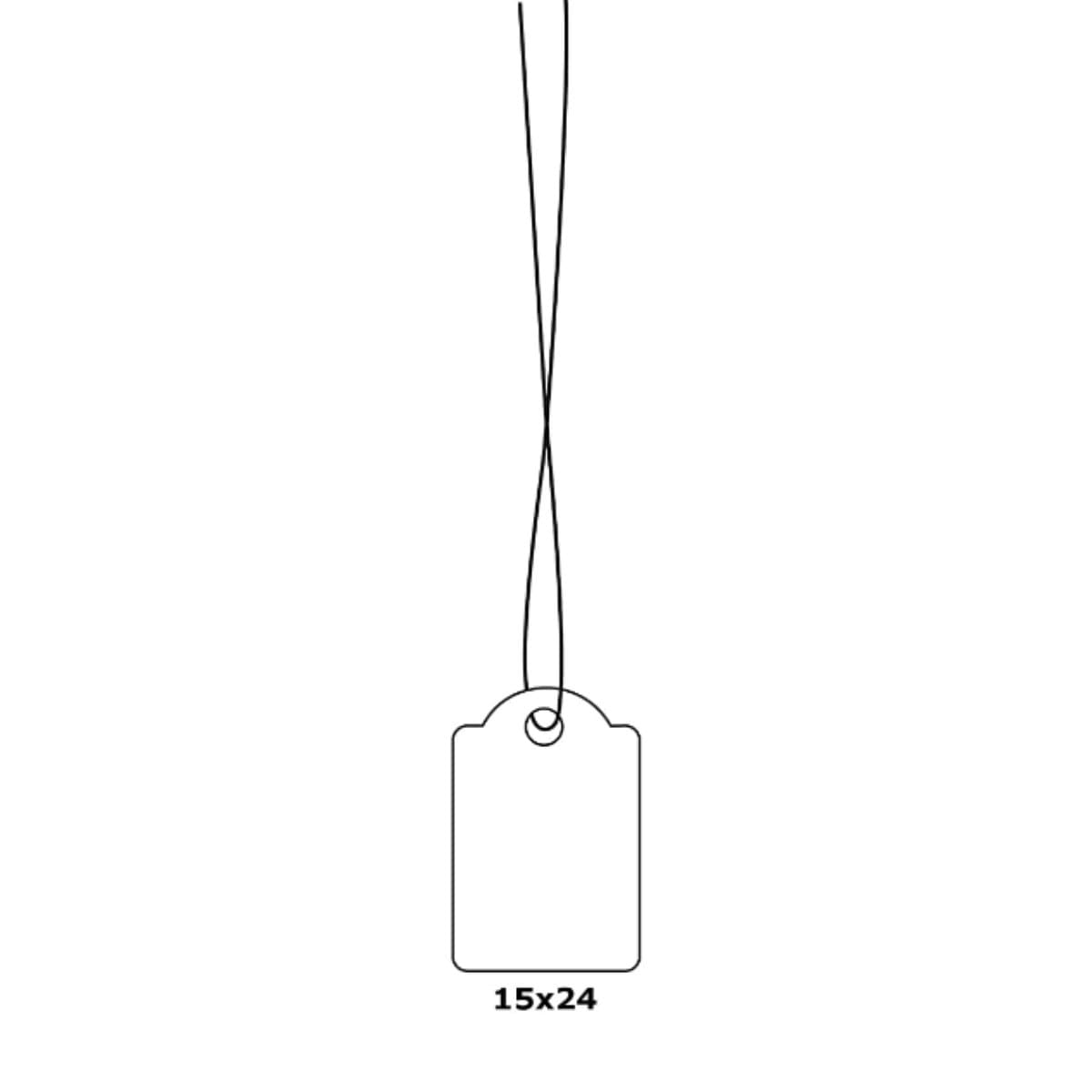 Herma Merchandise Tags with String, 15 x 24 mm, White